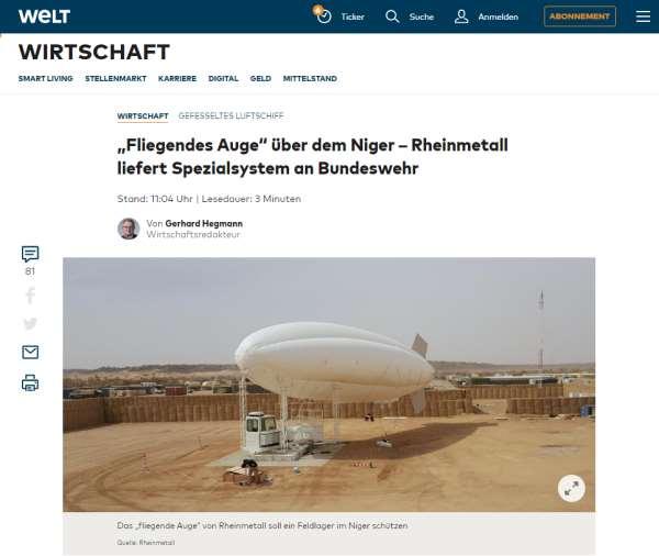 Rheinmetall Fliegendes Auge WELT