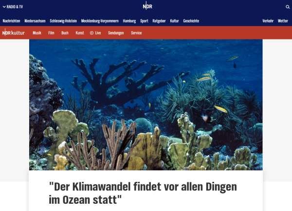 NDR-Der Klimawandel findet vor allen Dingen im Ozean statt
