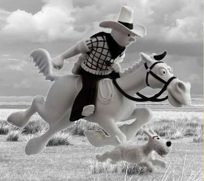 Tim in Amerika auf Pferd